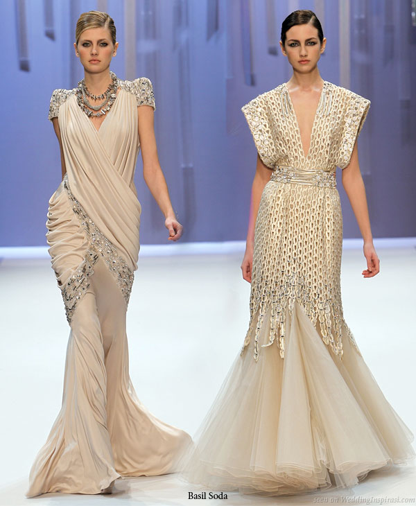 2010 basil soda haute couture spring summer 6 wedding for Georges chakra gold wedding dress price