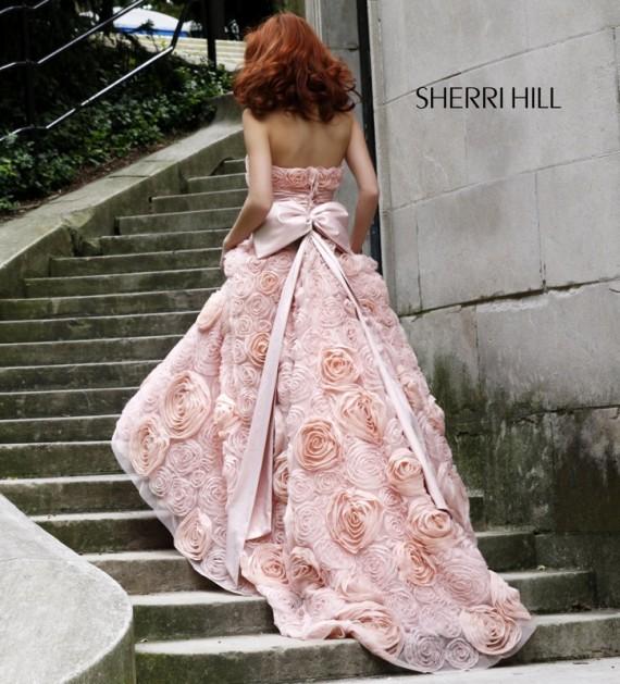 2010 sherri hill evening dresses wedding inspiration trends for Rose pink wedding dress