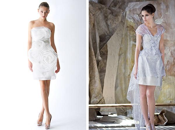 2010 Beautiful Short Wedding Dresses For Summer