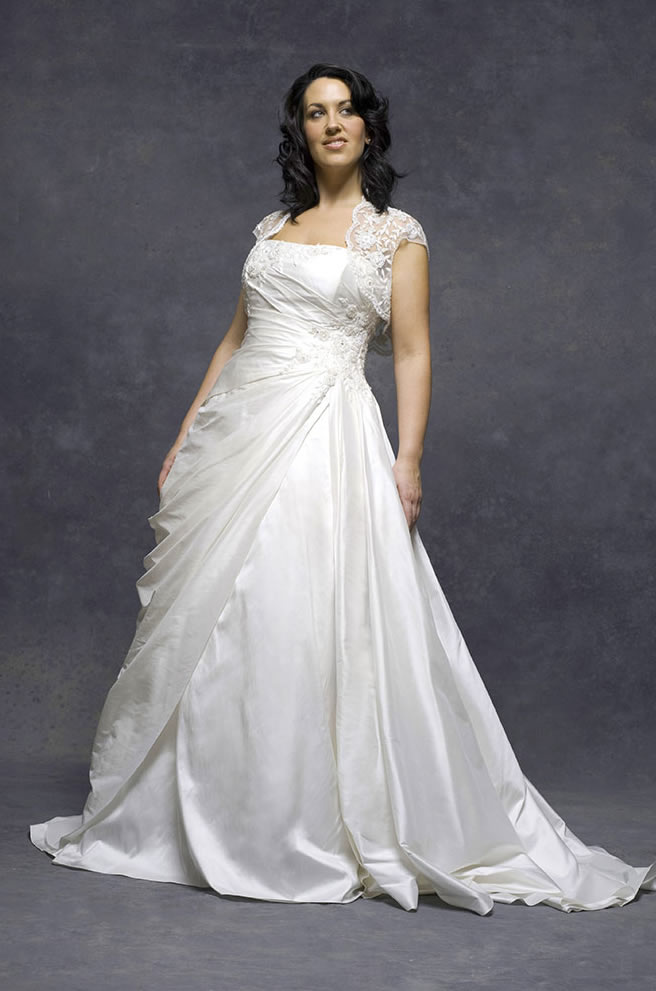 2010 Plus Size Wedding Dresses White Picture 2