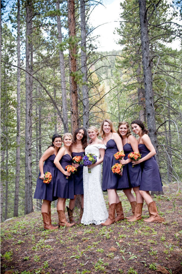 Bridesmaid Dresses With Cowboy Boots Picture 1