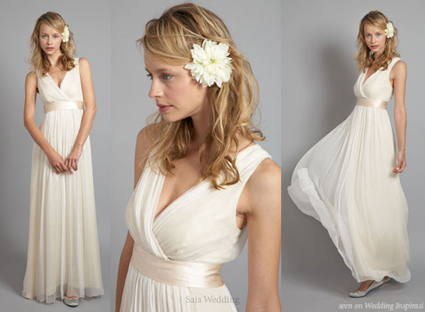 Grecian goddess wedding dresses wedding inspiration trends for Grecian goddess wedding dresses