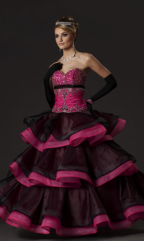 Black and Pink Quinceanera Dress Picture | Wedding Inspiration Trends