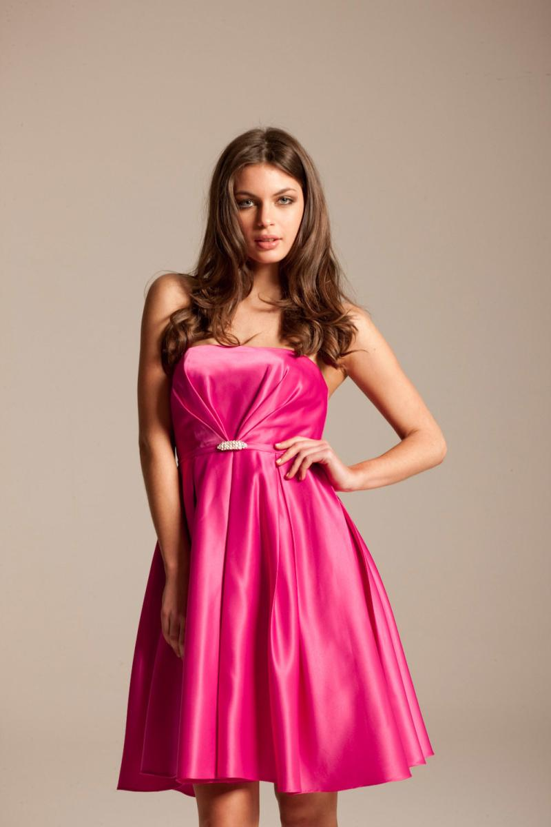 Hot pink formal dresses wedding inspiration trends for Fuschia pink dress for wedding