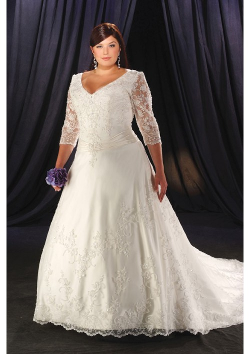 Woman Size Wedding Dresses 77