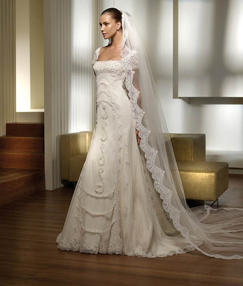 Wedding Dress With Shawl Embroidery Picture 2