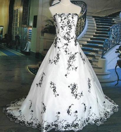 Black And White Pattern On Wedding Gowns3