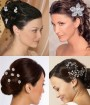 Bridal Hair Pins for Wedding Hairstyle Idea