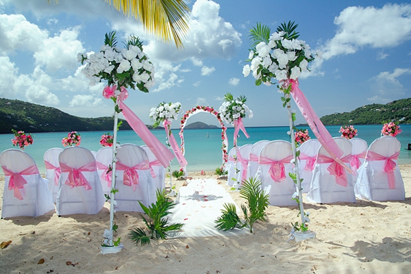 Elegant Beach Wedding Reception Amp Decorations2