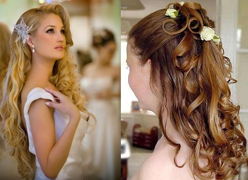 Long Curly Hairstyles Idea For Wedding Hairstyle