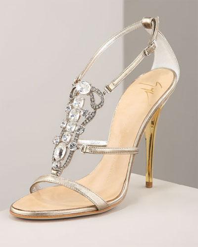Shiny Jewels On Yours Shoes Wedding From Giuseppe Zanotti 1