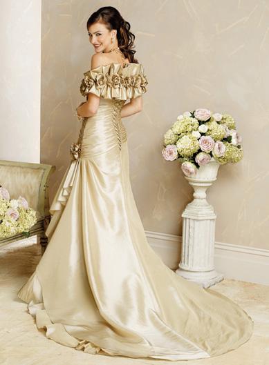 Tan Color Wedding Dresses Sweetheart Mermaid2