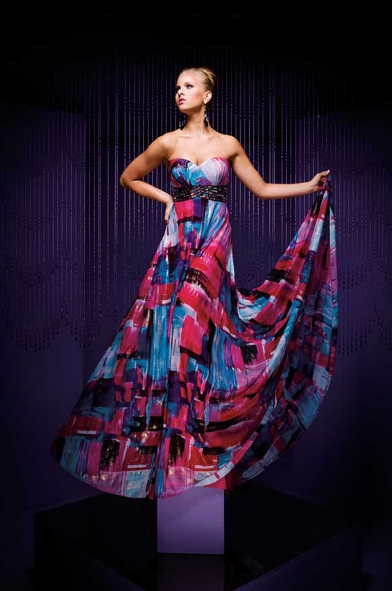 Supa and Queen :D - Page 12 Chiffon-Prom-Dress-with-Blue-Multi-Color-1