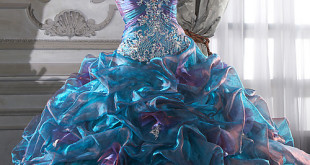 Colorfully on Crystal Organza Quinceanera Dress1