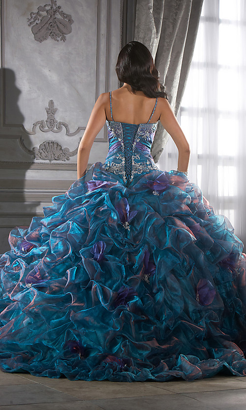 Colorfully on Crystal Organza Quinceanera Dress2