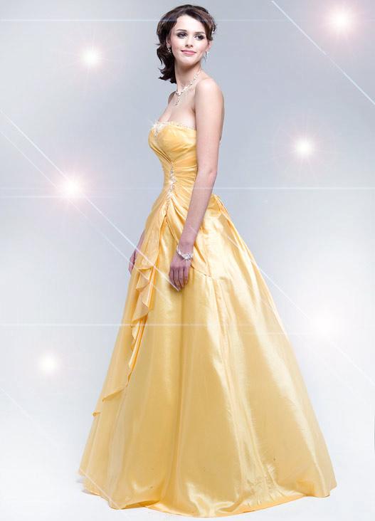 Yeloow Prom Dresses 97