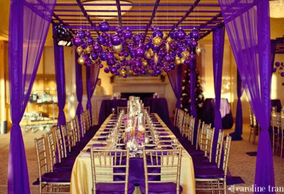 Purple gold and yellow color combination idea wedding - Purple and gold color scheme ...
