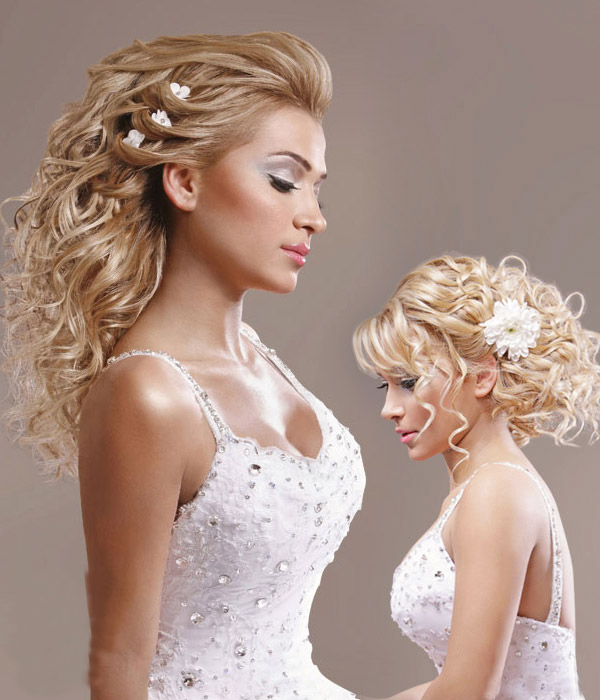 Romantic Bridal Hairstyle : Talal tabbara romantic wedding hairstyles and makeup