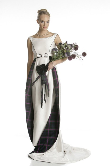 Wedding dressses with tartan style wedding inspiration for Scottish wedding dresses with tartan