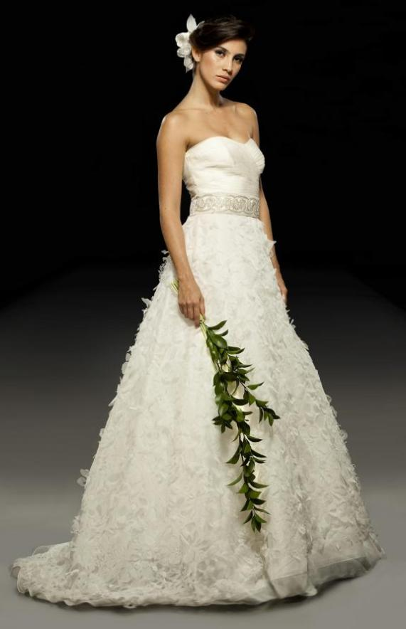 Wedding reception with classic wedding dresses from for Nature inspired wedding dresses