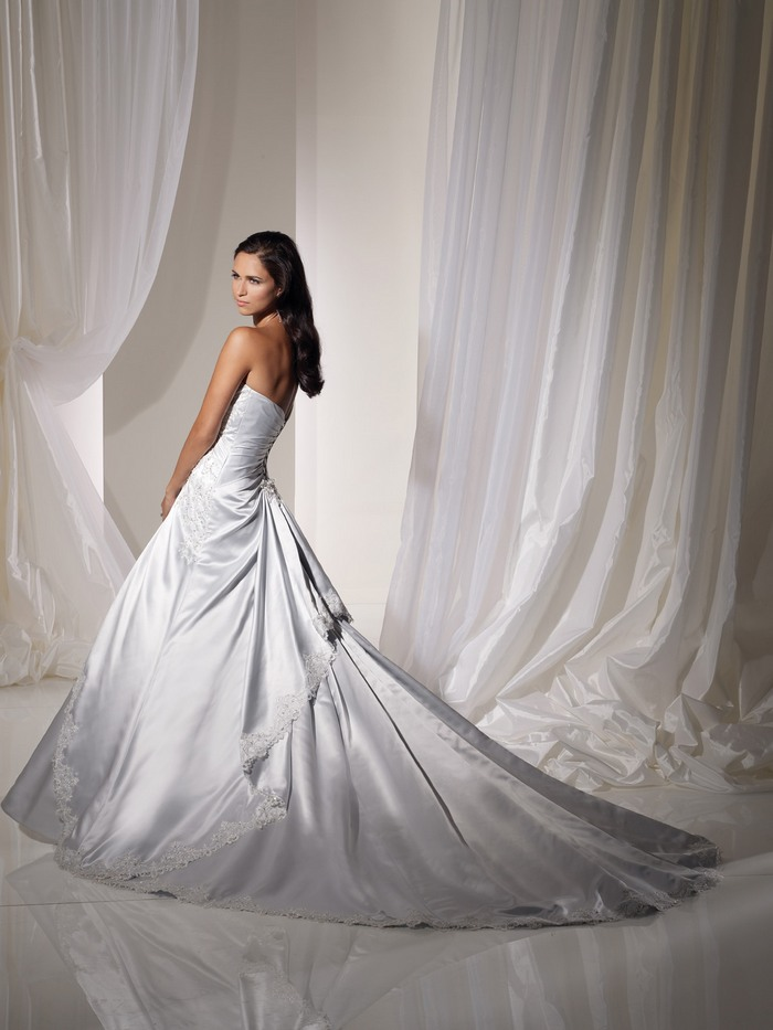 Light Blue and White Combination Wedding Dress by Sophia Tolli 2