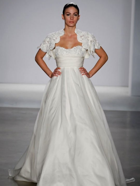 Bridal Gowns Boston : Modern white strapless wedding dress from priscilla of
