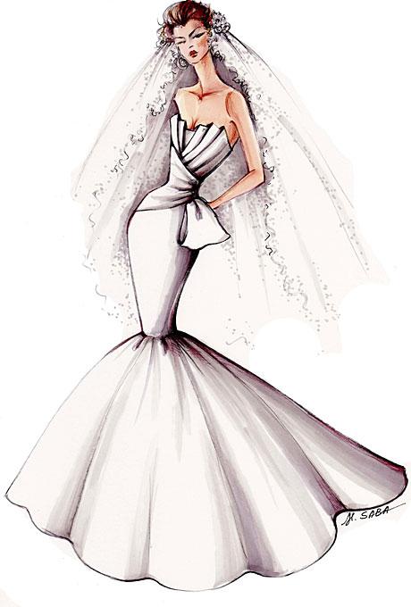 Original Sketches Elegance Wedding Dresses 2011 Collections 2 ...