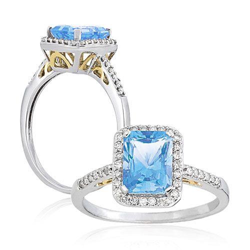 rectangular shape emerald cut wedding rings