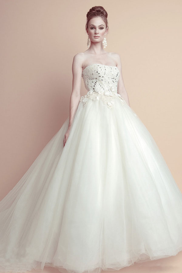 Romantic Ballgown Wedding Dress 2011 From Oliver Tolentino 1