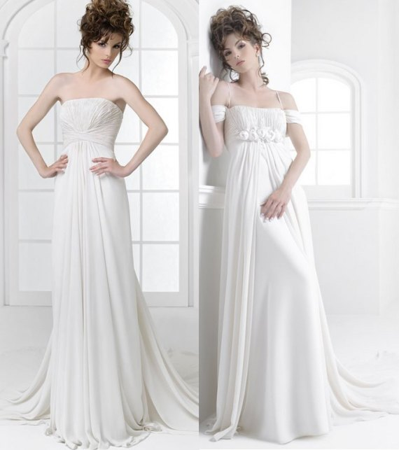 Feminine wedding dresses rs couture bridal collection for Simply white wedding dresses