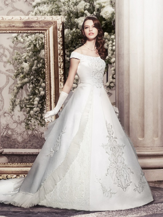 Princess Wedding Dresses With Elegant Strapless Dress ...