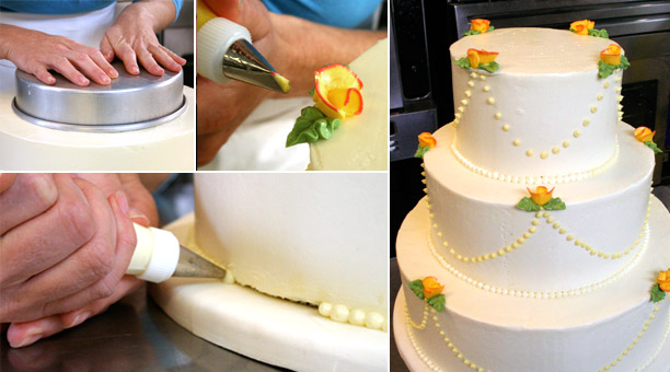 Make a wedding cake
