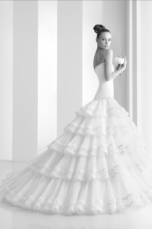 Spanish inspired wedding dresses
