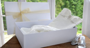 Wedding dress cleaning, preserving and storing in an acid free box