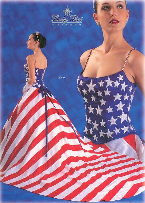 American Flag Wedding Dress Not Just A Usual Wedding Dress