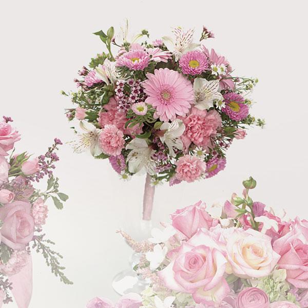 Carnation wedding bucket