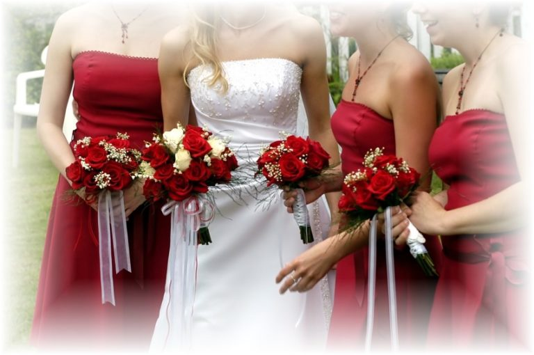Cheap silk bridal bouquets photos 1