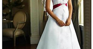 Red white and blue wedding dress 2