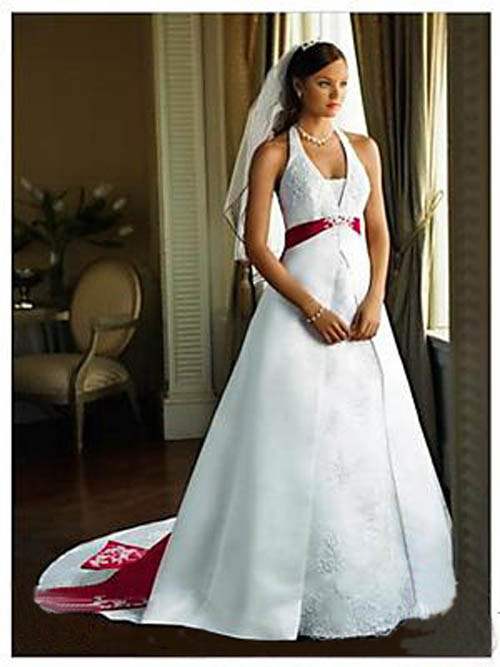 Red white and blue wedding dress another patriotic for Blue and black wedding dresses