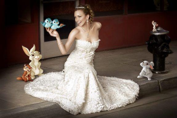 Disney Princess style wedding dresses