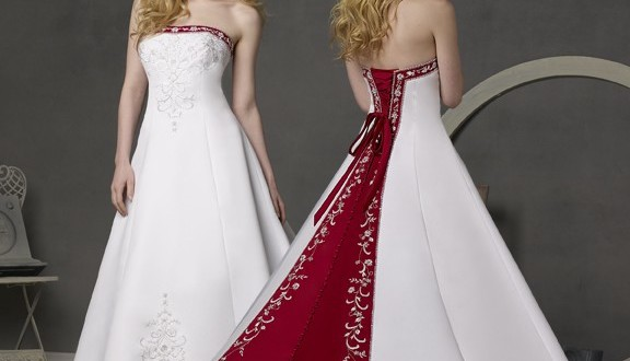 Wedding Dresses With Red Accents 71