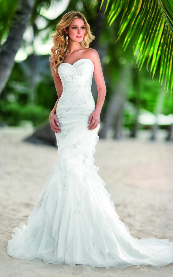 Pink wedding dress 2013