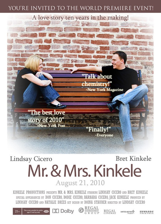 a movie poster wedding invitation card
