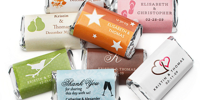 Personalized Hersheys for wedding favours, a creative wedding idea