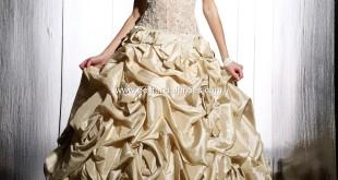 Top 10 2013 Wedding Dress Style - Gold Wedding Dress