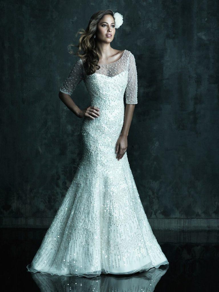 Top 10 2013 Wedding Dress style - illusion neckline - Allure