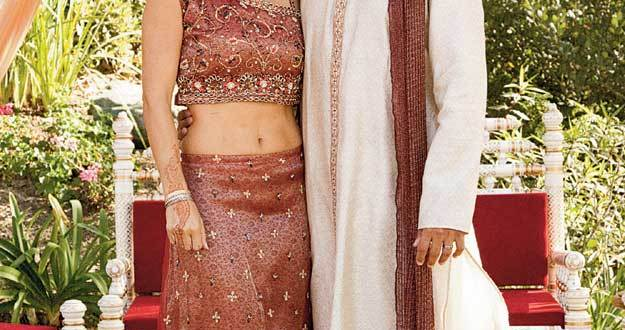 Indian wedding dresses couple