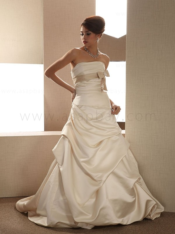 champagne beach wedding dresses