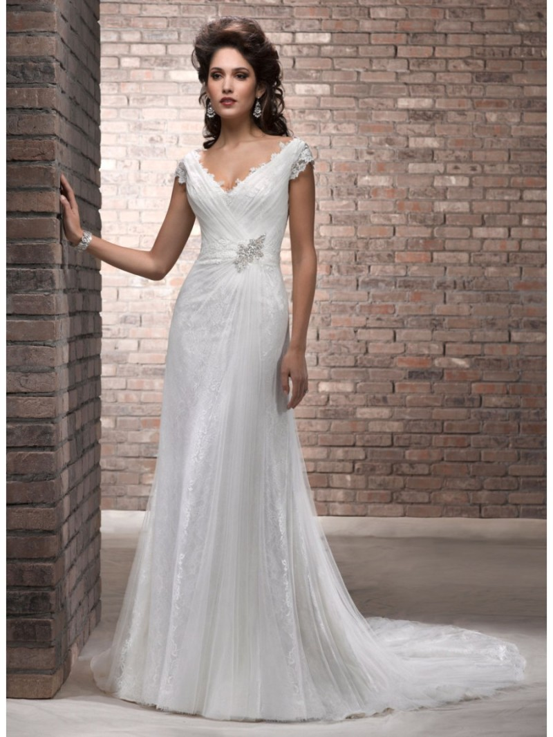Ivory wedding dresses for older brides wedding for Older brides wedding dresses