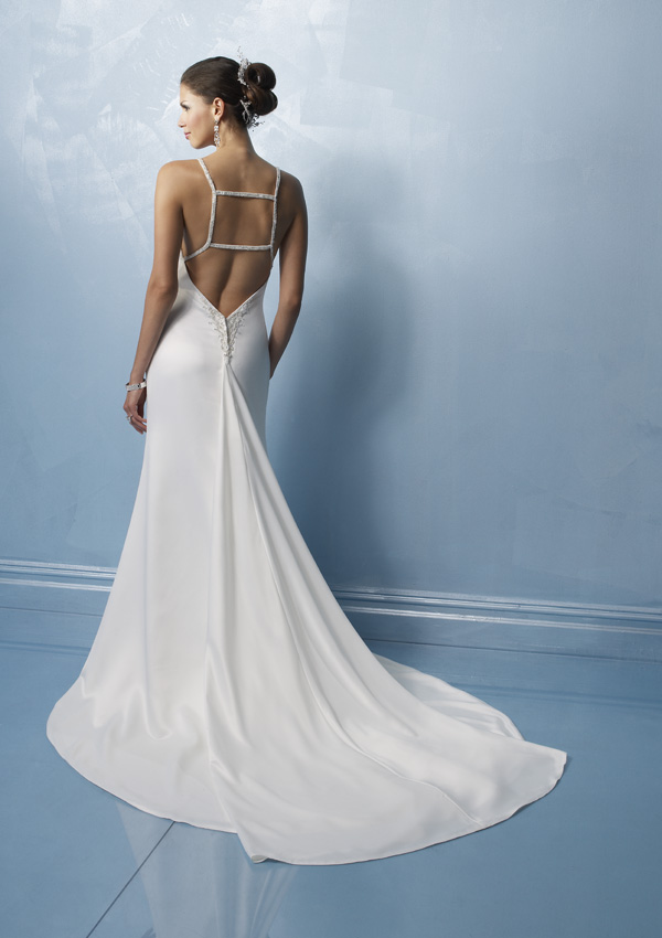 Low back wedding dresses wedding inspiration trends for Wedding dress undergarments low back